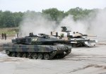Leopard tanks of the German armed forces Bundeswehr are pictured during a demonstration of the German armed forces Bundeswehr in Munster