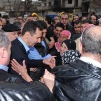 President al-Assad in Homs: Restoring Security