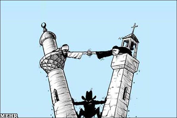 Catholics orthodox and muslims with bashar al assad and syrian army