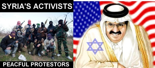 La propagande de guerre des médias de masse sur la Syrie s'intensifie Syria-activists-peaceful-protestors-qatari-pig