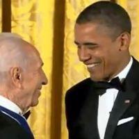 Obama & Peres: a war criminal honors another war criminal - 2 original videos