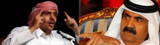 qatari_ruler_sheikh_hamad_bin_khalifa_al_thani_and_Mohammad Ibn al-Dheeb al-Ajami_dx