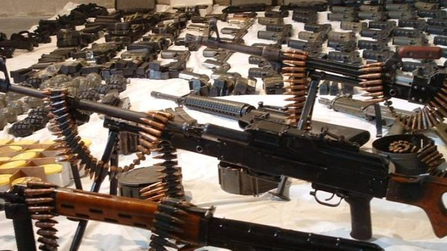 Syrian Arab Army Seized Israeli Made Arms In The Hands Of