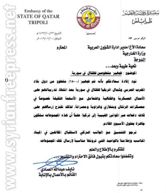 Qatar to secret-ARAB