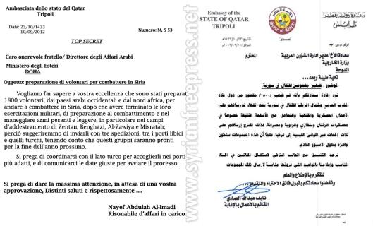 Qatar to secret
