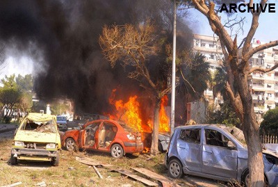 car bomb in Damascus countryside
