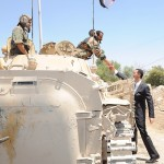 President Assad with a tank driver - Darayya 1 August 2013