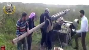 terrorists in Syria firing rockets