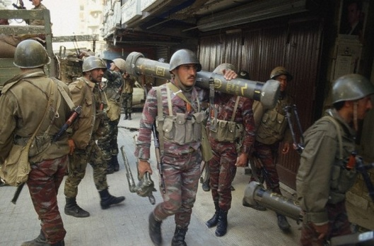 Syrian Soldiers in Beirut