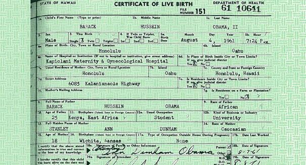 Hawaii official now swears no obama birth certificate the real 120905obamacertificatereu605605 yadclub Images