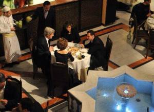 kerry dines with assad