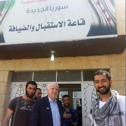 Mouaz Moustafa_and_McCain_with terrorists_in_Syria-3
