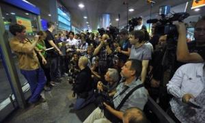 Sheremetyevo Airport where plane carrying Edward Snowden landed