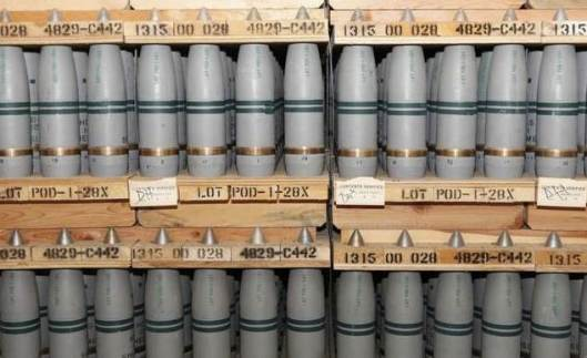 105 millimeter shells containing chemical weapons, part of US chemical stockpile