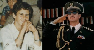 President Bashar as a young boy and grown