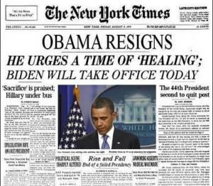 Will Obama Resign