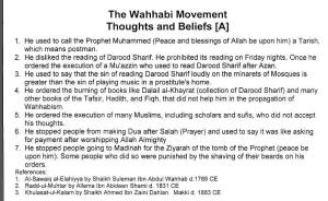 Wahhabi Movement Thoughts and Beliefs