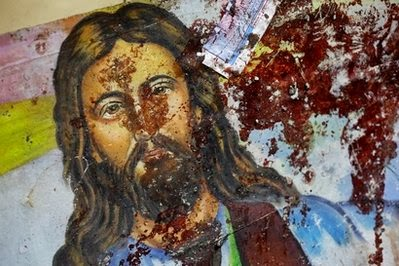 blood on jesus