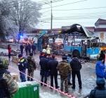 Explosion on trolleybus in Volgograd