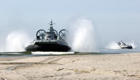 Учения по высадке морского десанта на Балтийском флоте