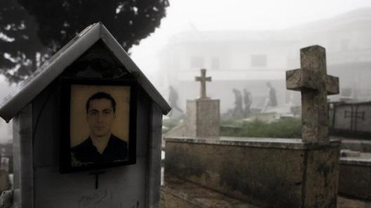 AFP / ACHILLEAS ZAVALLIS / Un cementerio armenio en la aldea cristiana de Al Yaqubia, Siria