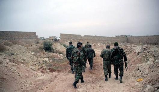 Syrian Army infantrymen