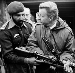 Zbignew Brzezinski and Osama Bin Laden in 1981