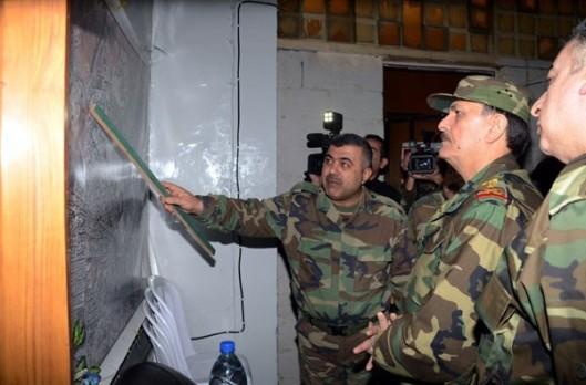 Gen. al-Freij visits army sites in Aleppo-2