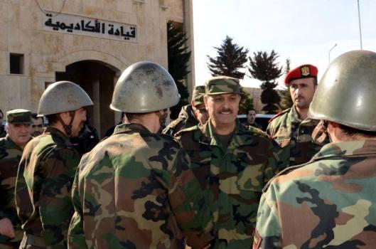 Gen. al-Freij visits army sites in Aleppo