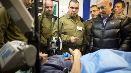 Netanyahu visits in Israeli hospitals terrorists injured in Syria-2