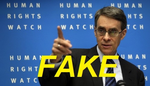 Syria Human Rights Fake