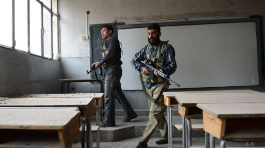 terrorists-in-school-Aleppo