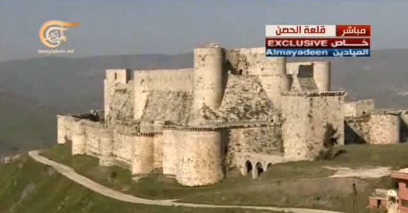 The 'Krak Des Chevaliers' has been disinfested and is now takfirists-free (mostly foreigners ...