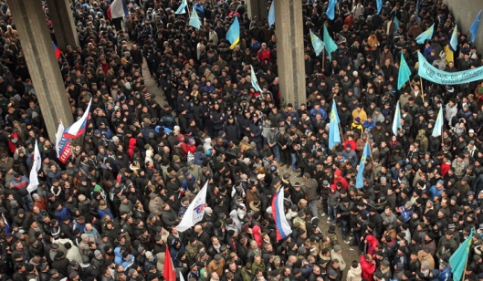 Anti government protest in Crimea, Ukraine.