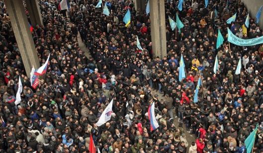 Anti government protest in Crimea, Ukraine.