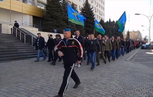 airborne troops veterans in Lugansk