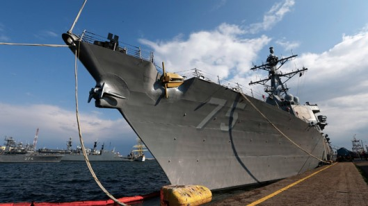 destroyer USS Donald Cook arrived at the Black Sea port of Constanta