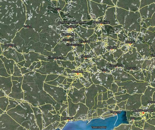 http://wikimapia.org/#lang=en&lat=48.180739&lon=37.814941&z=8&m=b&search=Ukraine%2C%20Donetsk%20region