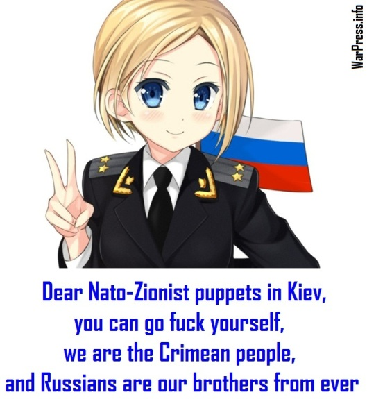 Natalia Poklonskaya-Dear Nato-Zionist puppets in Kiev-we are Crimean people-www.warpress.info