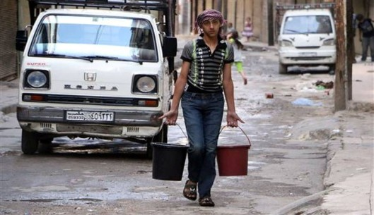 Insurgents cut off water supply in Syria's Aleppo