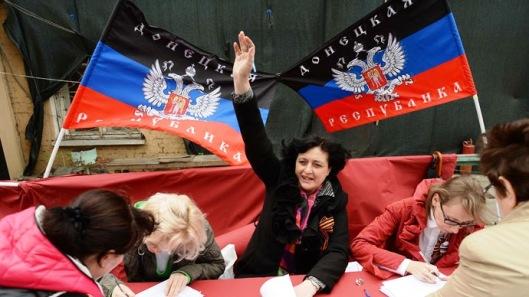 Donbass residents vote referendum on self-proclaimed Donetsk People_s Republic