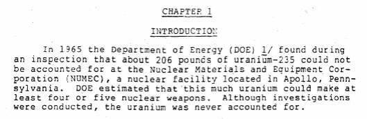 missing uranium