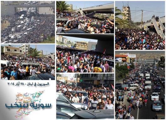 Syrians turnout