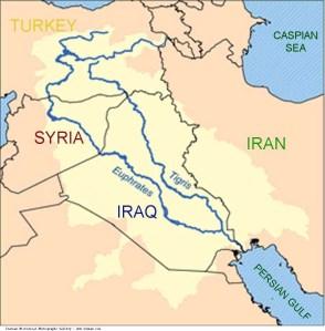 Iran_Euphrates_River_Map