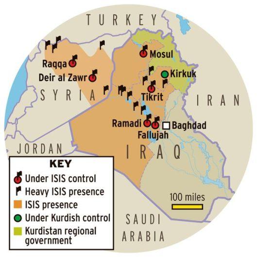 Iraq-ISIS-map