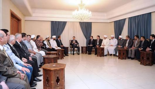 President al-Assad Damascus thanks  people-s awareness