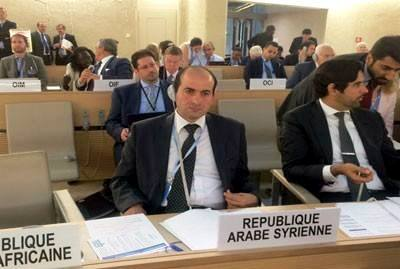 Syrian mission to the UN office in Geneva Mohammad al-Mohammad