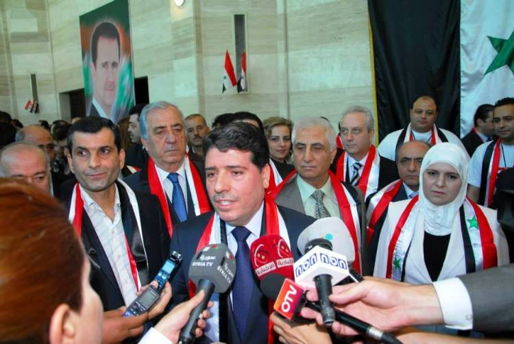 Wael al-Halqi-after-elections