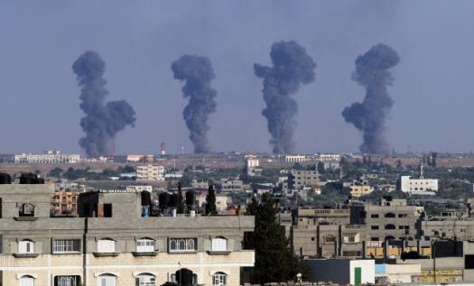Israeli Air Strikes Kills Six Palestinians
