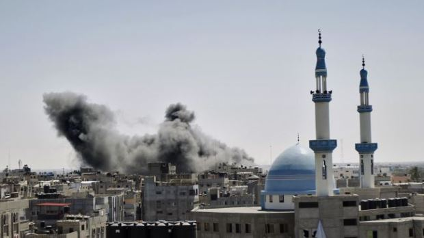 Israeli airstrike in the town of Rafah